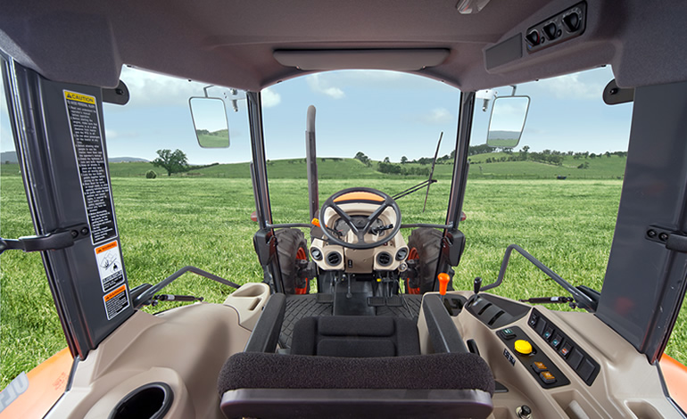 Kubota M6060 Tractor Cab Features