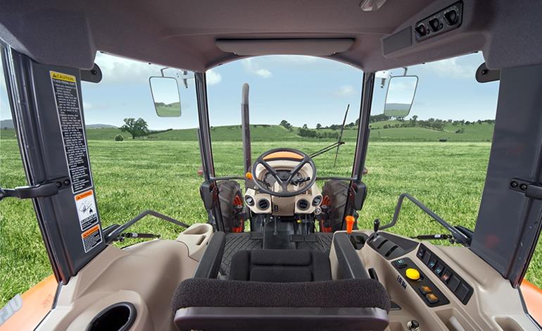 Kubota M6060 Tractor Cab Features