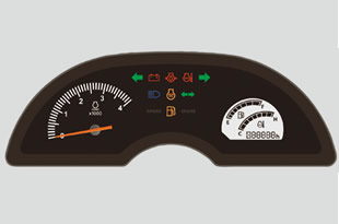 Kubota BX25D_Easy_To_Read_Meter_Panel