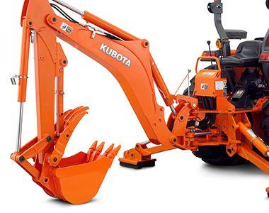 Kubota l3200 compact tractor backhoe