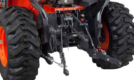 Kubota M62TLB Tractor Category I and II 3 point hitch