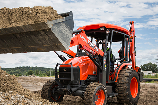 Kubota Tractor Loader Forklift : 【kubota m tlb】tractor loader backhoe price specs and review