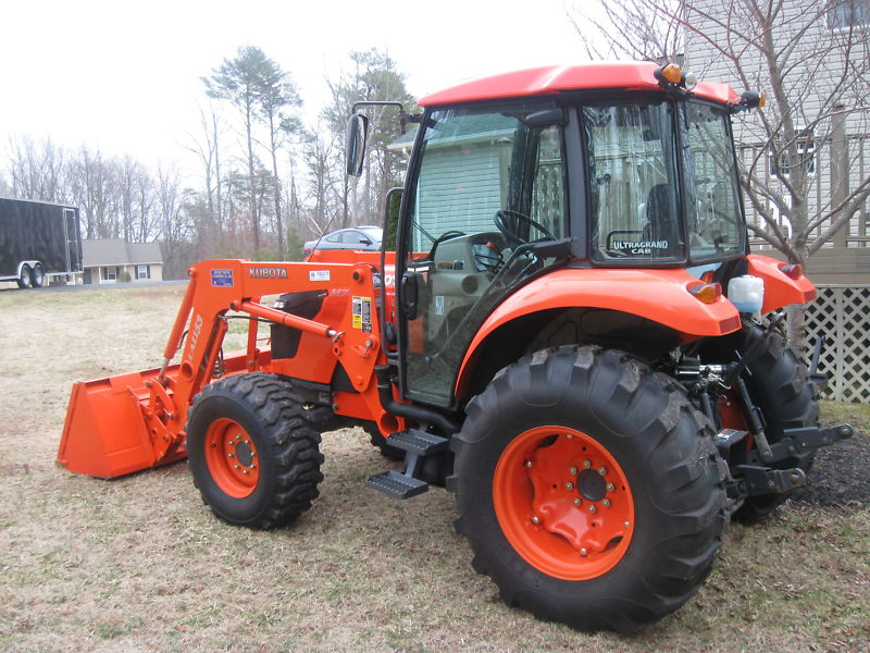 Kubota Tractor Loader Forklift : Kubota m specs price implements parts images and review