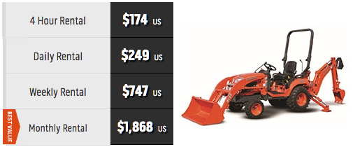 Price of Kubota BX25D tractor