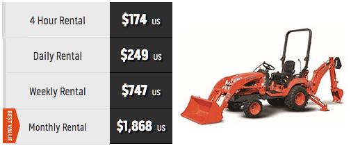 Price of Kubota BX25D tractor