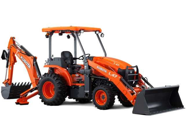 Price of The Kubota L47TLB Tractor Loader Backhoe