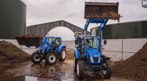 front Loader t5.105 electro command tractor