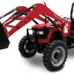 Mahindra 5545 4WD shuttle utility tractor