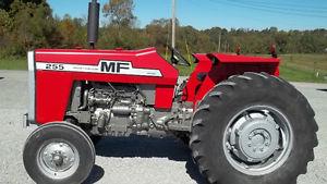 massey ferguson 255 tractor Tire size