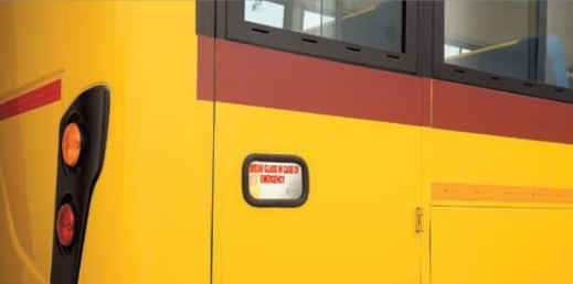 Bharat benz school bus emergency exit
