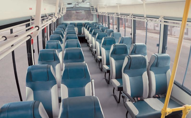 Bharat benz staff bus interiors