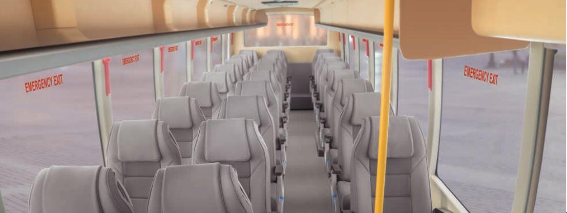Bharat benz tourist bus interiors