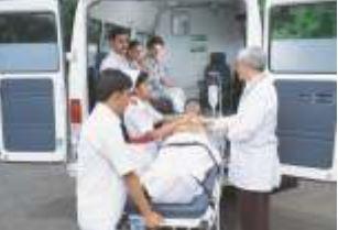 Force Traveller Ambulance interior 1