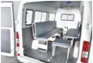 Force Traveller Ambulance interior