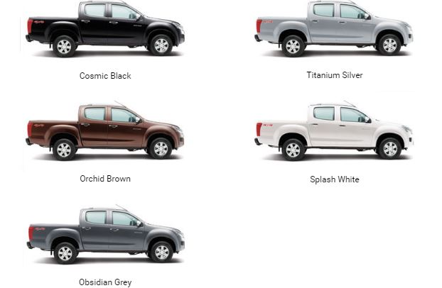 ISUZU D-MAX V-Cross colors
