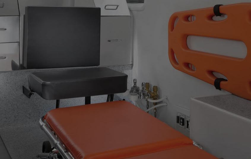 TATA Winger Ambulance interior