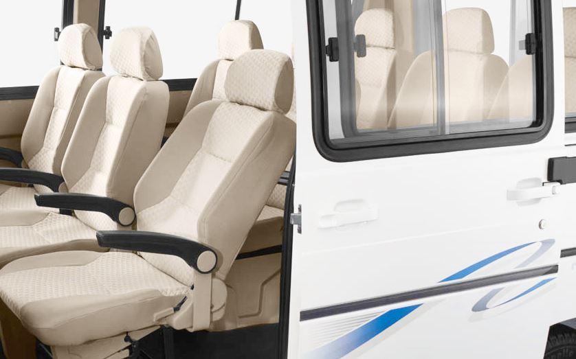 TATA Winger Luxury Maxi Van interior