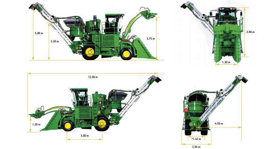 John Deere CH330 Sugarcane Harvester Specifications