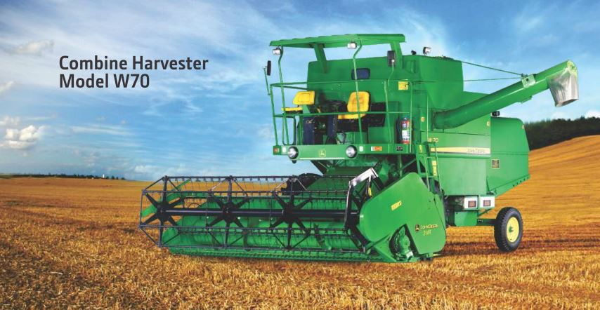 John Deere Combine Harvester W70 price