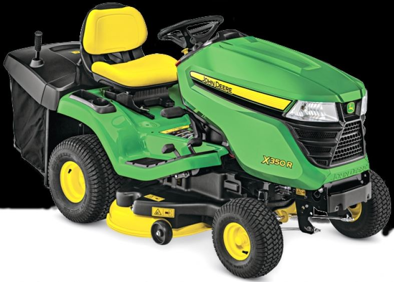 John Deere X350R Tractor with 42-inch Rear-Discharge Deck Lawn Tractor