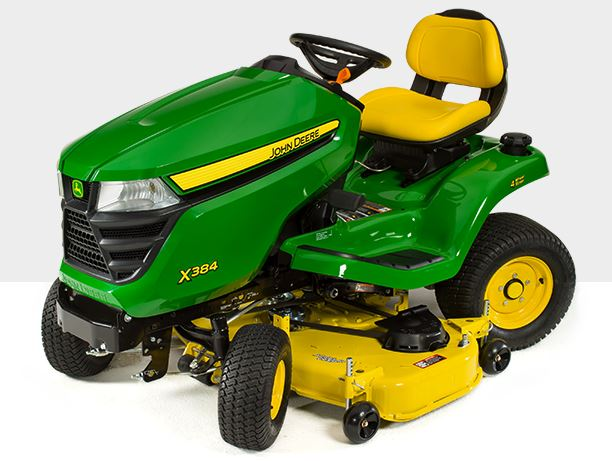 John Deere X384 Tractor with 84-in. Deck Lawn Tractor