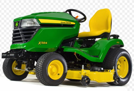 John Deere X584 with 48-inch or 54-inch Deck Lawn Tractor