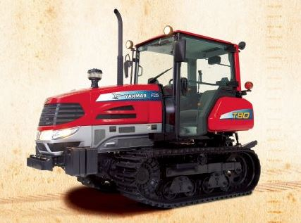 Yanmar T80 (Narrow) Rubber Track Tractor With Enclosed Cab With heat And AC