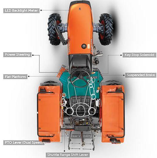 Kubota MU4501 4WD Tractor Key features