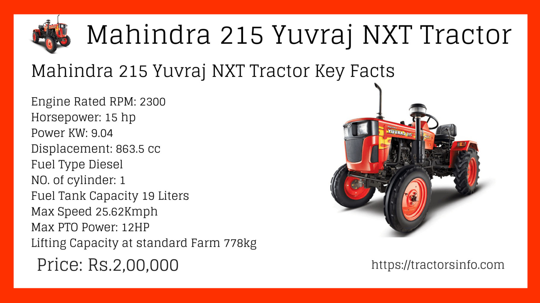 Mahindra 215 Yuvraj Nxt Tractor Price List Specs Features Wiring Diagram Free Picture