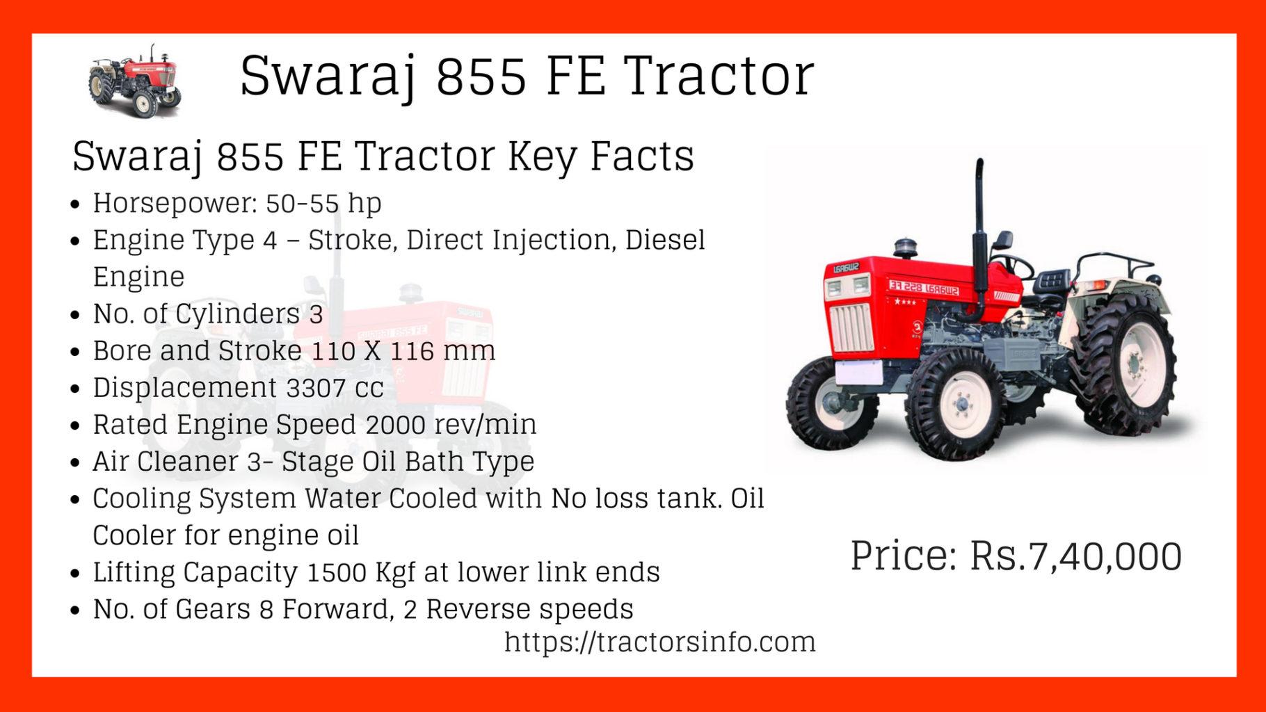 Swaraj 855 FE Tractor