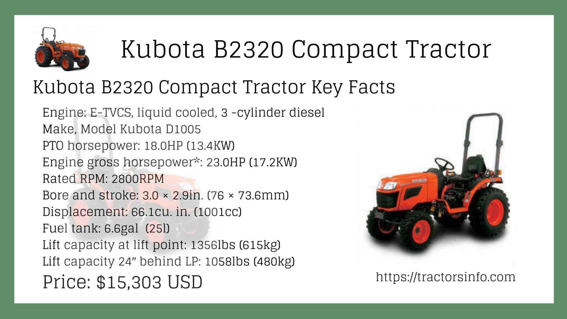 Kubota 2320 compact tractor