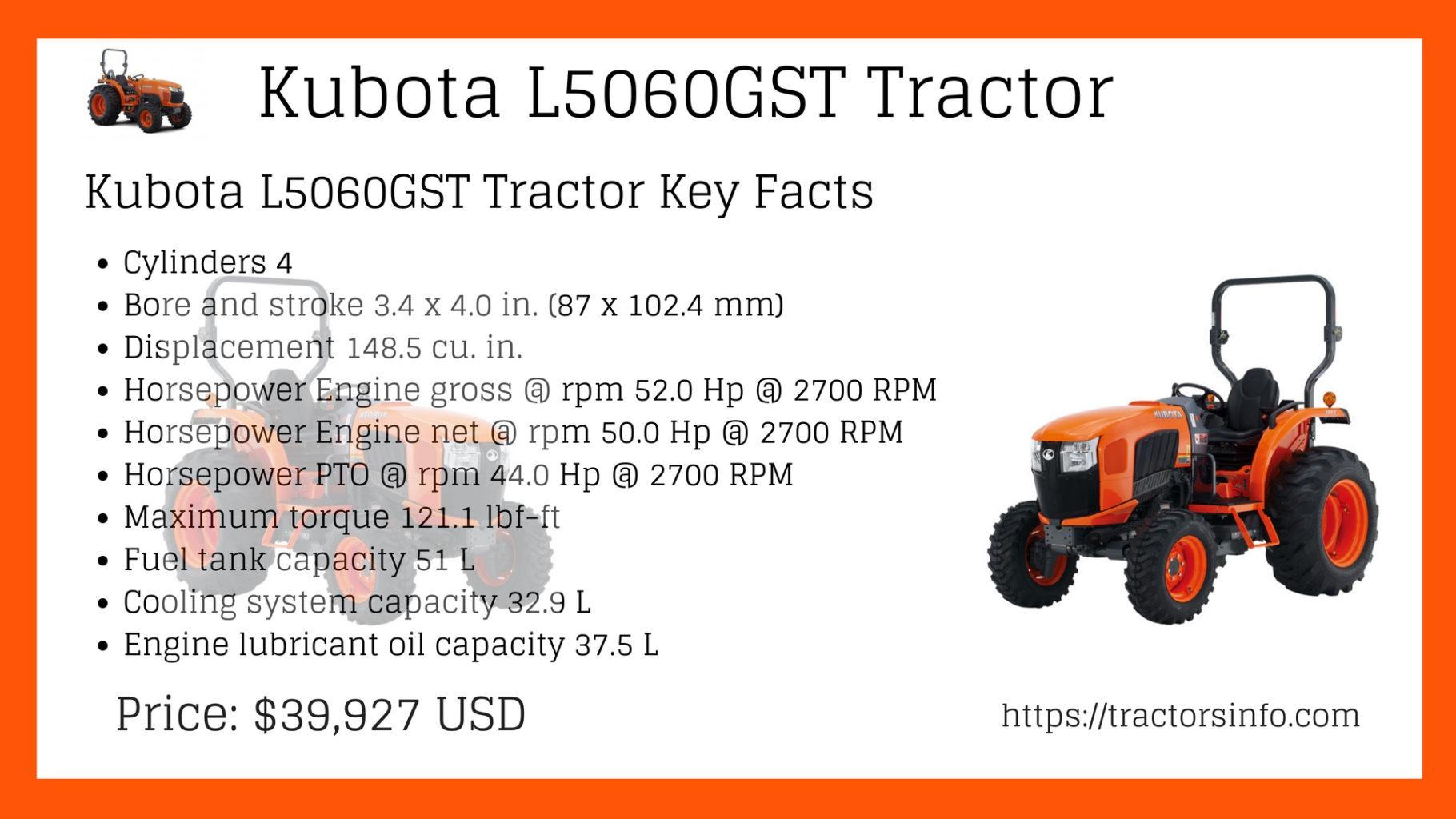 Kubota L5060GST Tractor