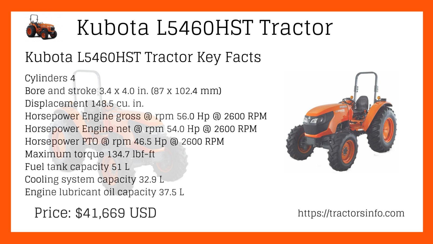 Kubota L5060, L5460, L6060 Tractors Price List, Key features