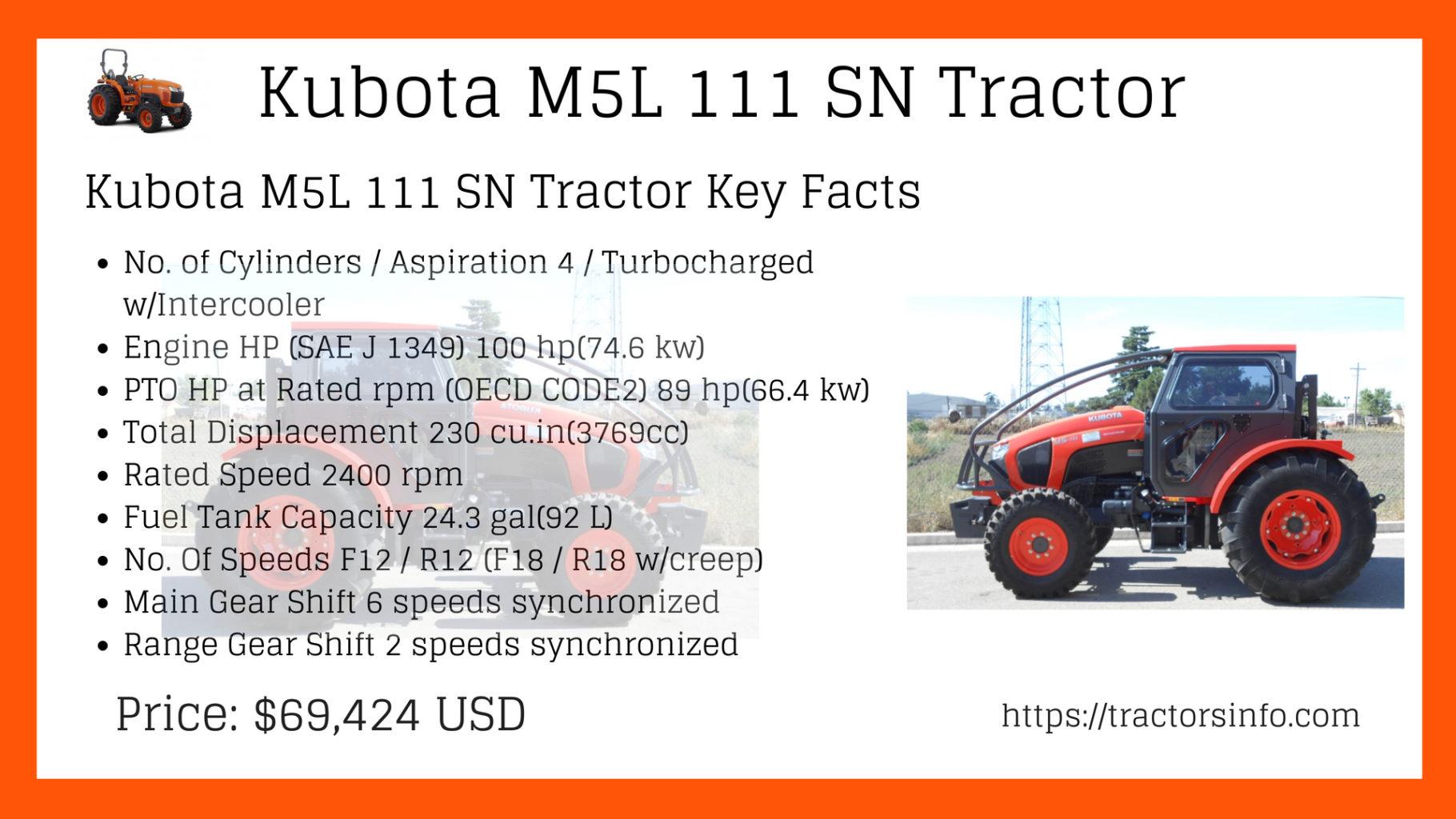 Kubota M5L 111 SN Tractor (2)