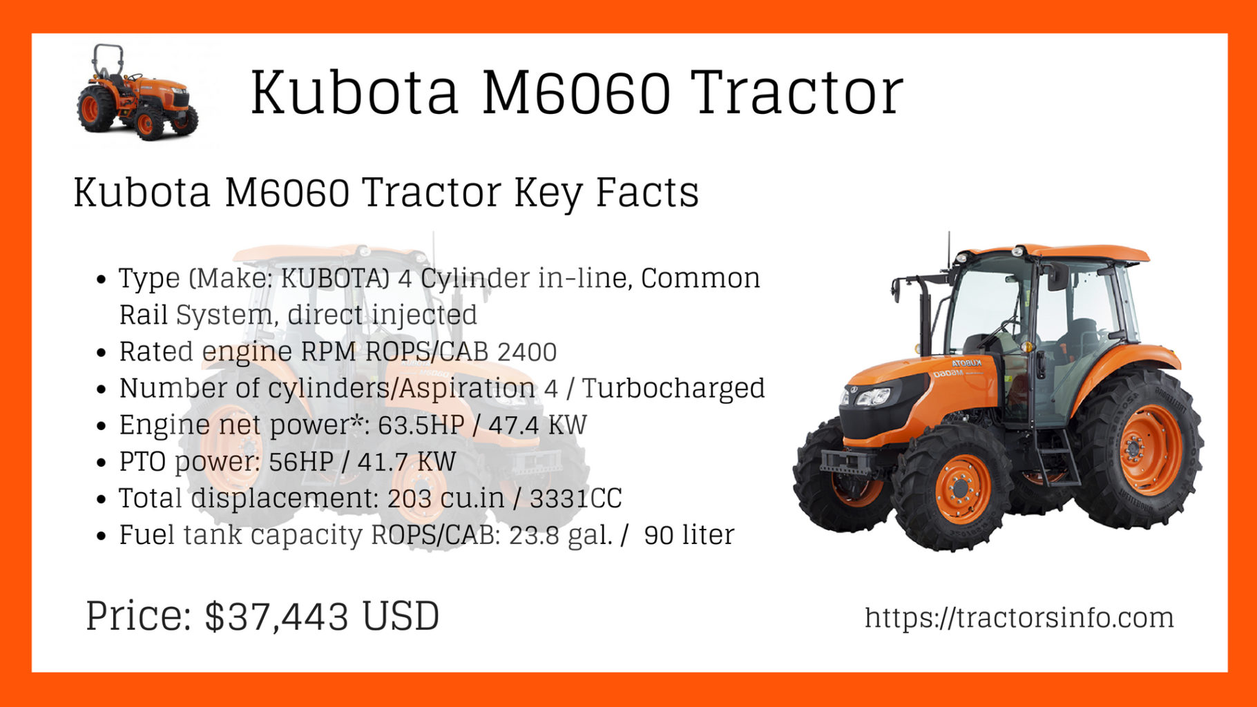Kubota M6060 Tractor