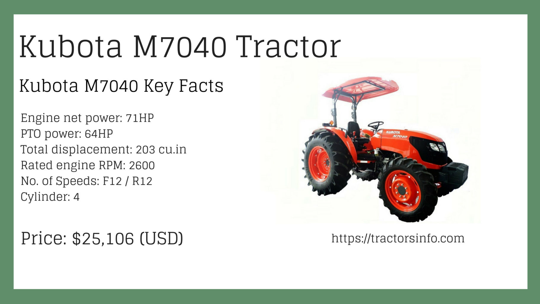 Kubota M Tractor