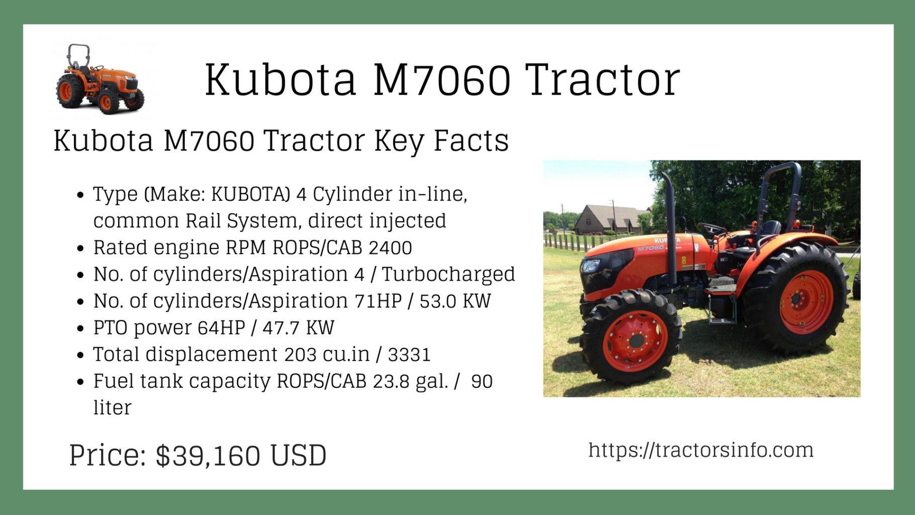 Kubota M7060 tractor