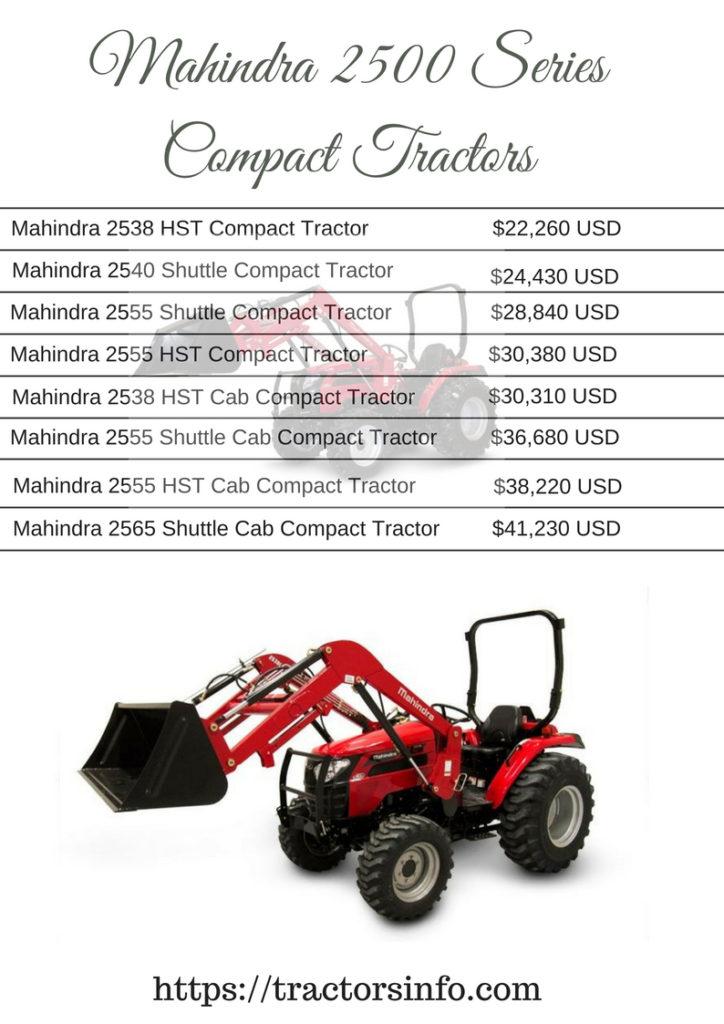 Mahindra 2500 Series Compact Tractors