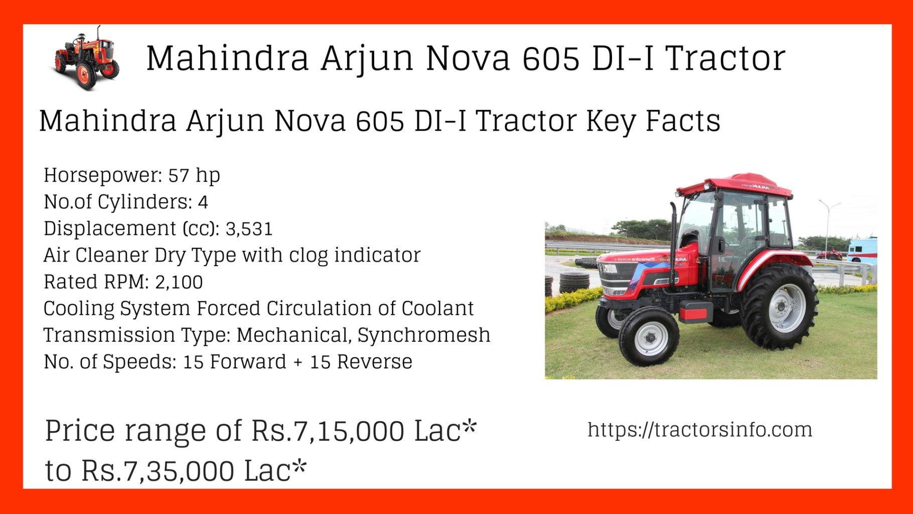 Mahindra Arjun Nova 605 DI – I tractor