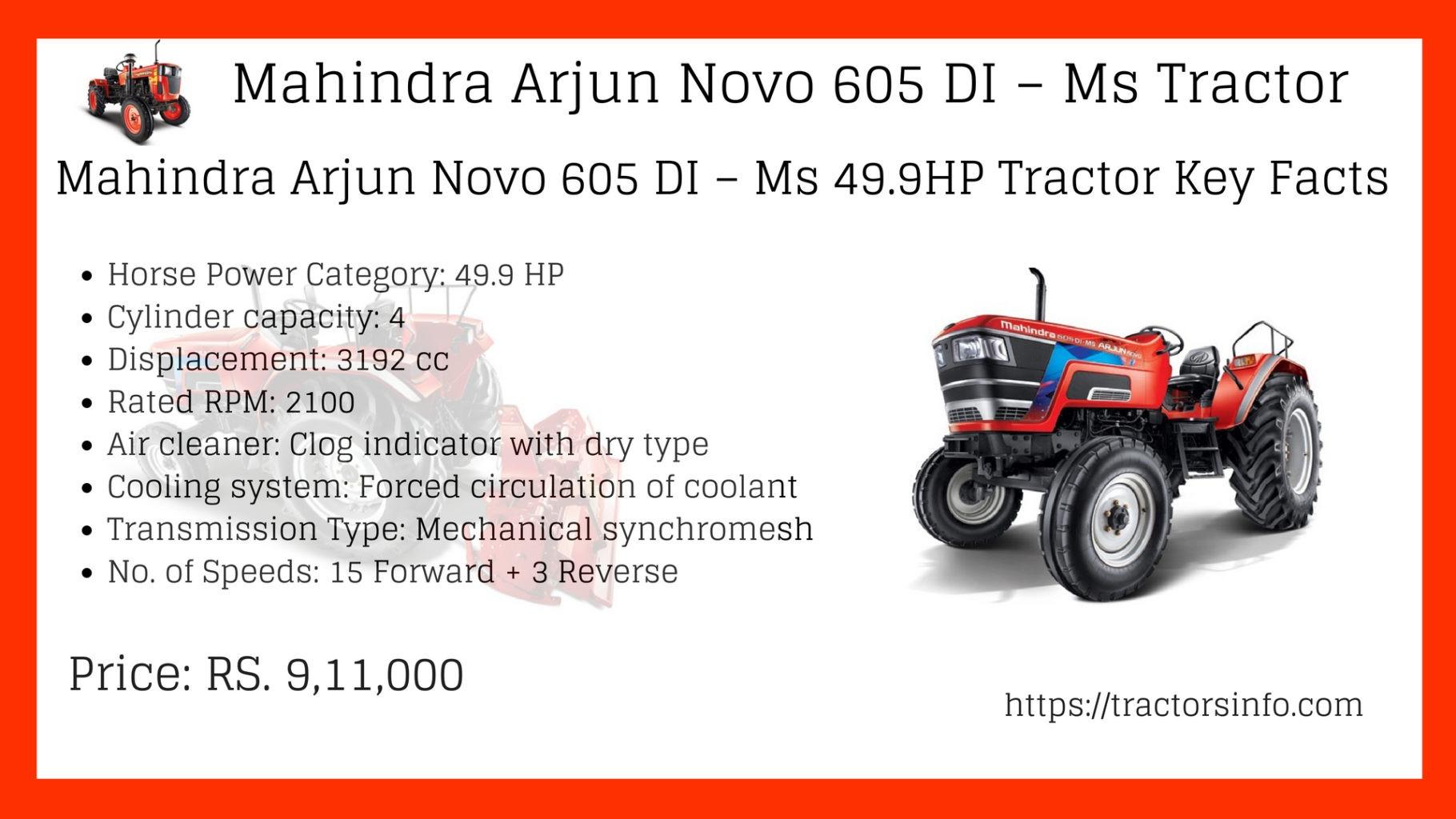 Mahindra Arjun Novo 605 DI – Ms Tractor