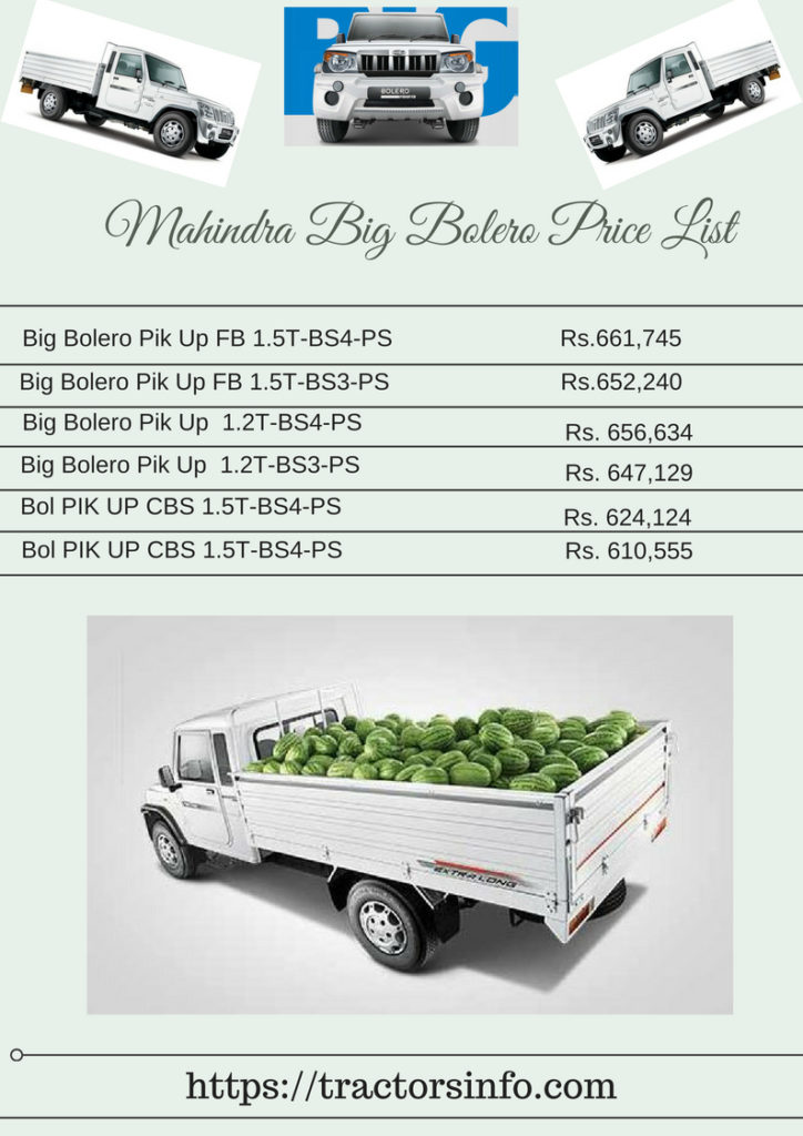 Mahindra Big Bolero Pickup