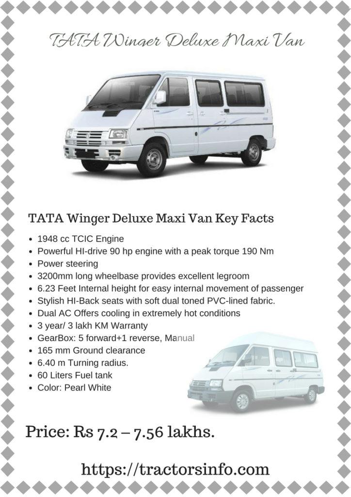 TATA Winger Deluxe Maxi Van Price Specs