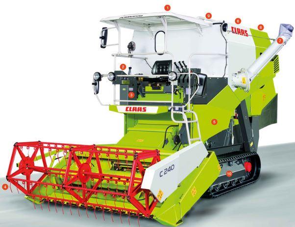 CLASS DOMINATOR 40 TERRA TRAC Combine Harvester Price Specs Features