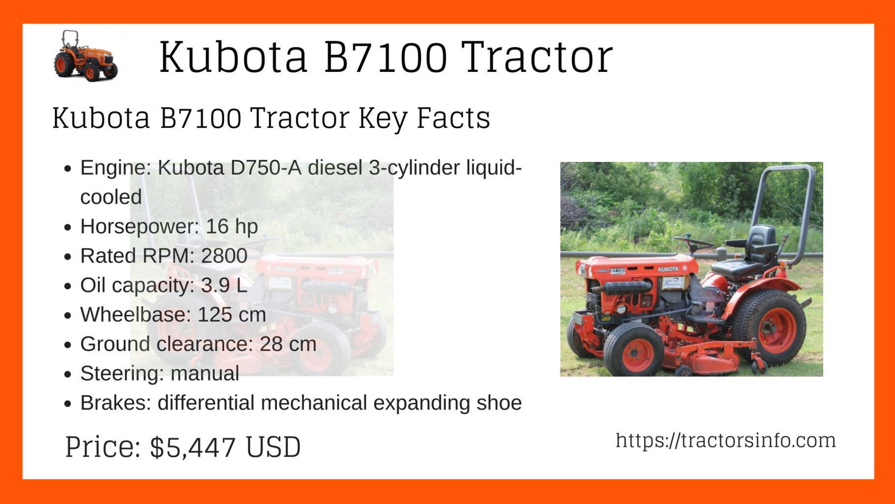 Kubota B7100 Tractor