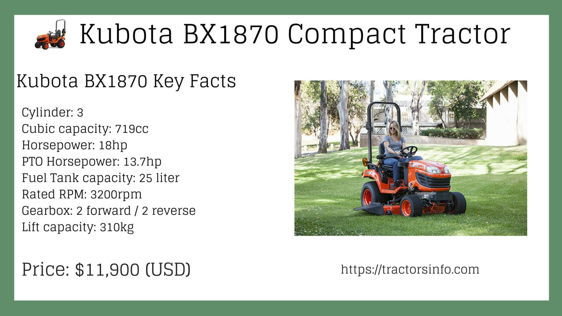 Kubota BX1870 compact tractor