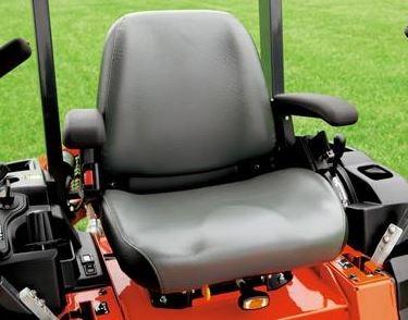 Kubota Z121S Zero-Turn Mower comfort