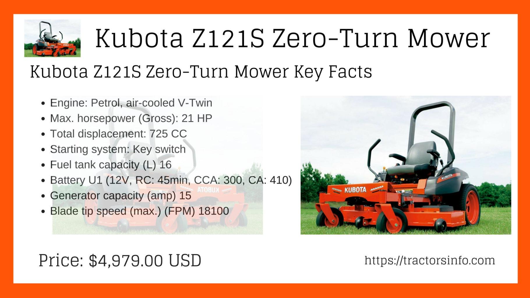 Kubota Z121S Premium Model 48