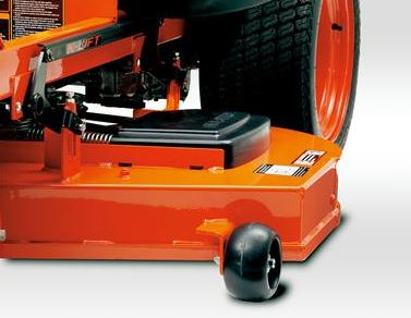 Kubota Z122E Zero-Turn Mower components