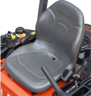 Kubota Z122R Zero-Turn Mower comfort