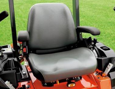 Kubota Z125E Zero-Turn Mower comfort